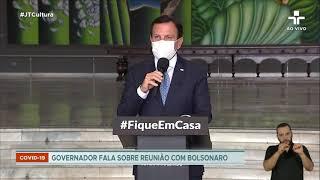 Doria comenta reunião entre 27 governadores e o presidente Bolsonaro