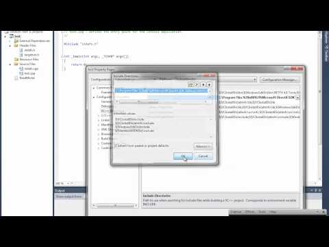 How to add D3D9 SDK to Visual studio 2010.mp4