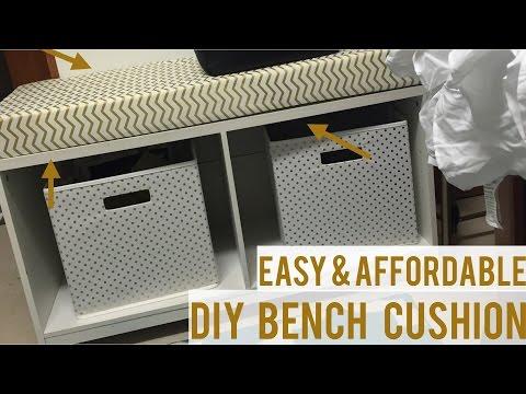 DIY Easy  Bench Cushion   Under $40!!!