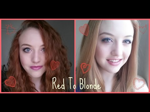 Red to blonde!! Using Color Oops!