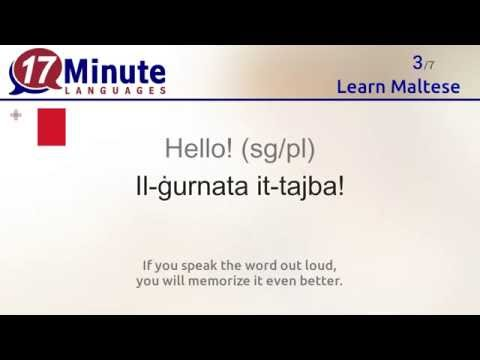 Learn Maltese (free language course video)