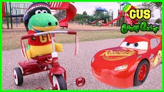 Family Fun Gus First Bike Ride Playtime at the Park Disney Cars 3 Lightning McQueen