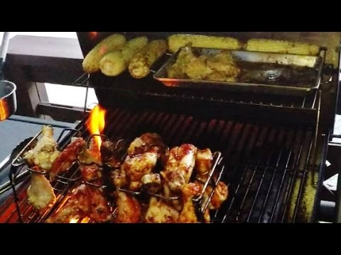 BBQ Butter Wings and Legs Grill Rack Meal