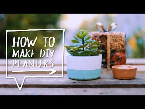 DIY CEMENT PLANTER | How to Make a DIY Concrete Planter + Candle Holder ✨Alejandra's Styles