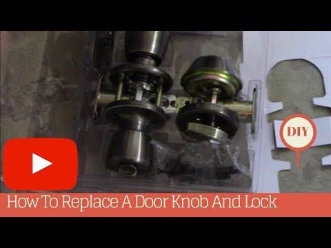 How To Replace A Door Knob And Lock On An Exterior Door!
