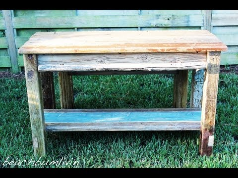 How to build a Rustic Kitchen Island and Bench using Driftwood: Rustic Woodworking
