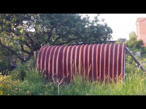 Anderson Bomb Shelter Used As Shed In Allotment