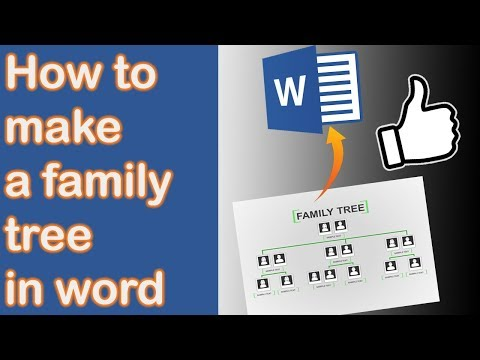 How to make a Family Tree in Word 2013 [NEW VERSION IN DESC]