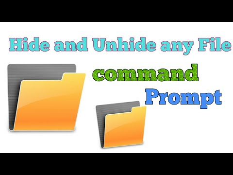 How to Hide and Unhide any File/folder in computer using command prompt