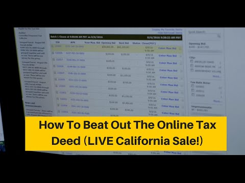 1 Fancy Trick For Beating Out The Online Tax Sale Competition LIVE SALE! (TLVT Ep. 25)