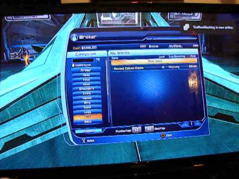 How to sell things in the Broker on DCUO tutorial