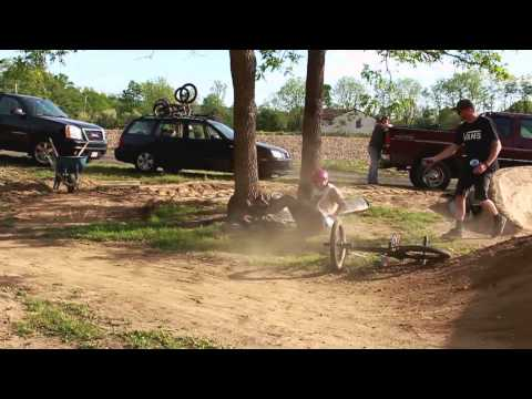 Backyard BMX trails - Coolest parents ever!