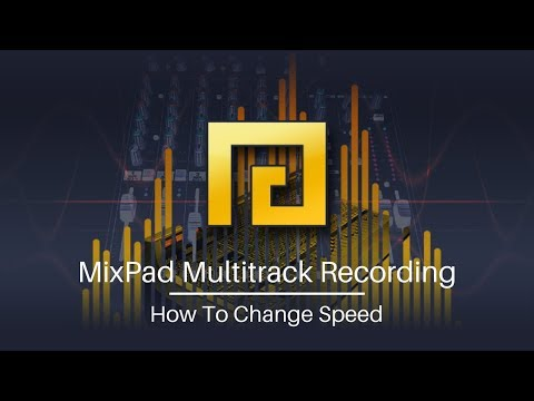 MixPad Audio Mixing Software Tutorial   How to Change Speed