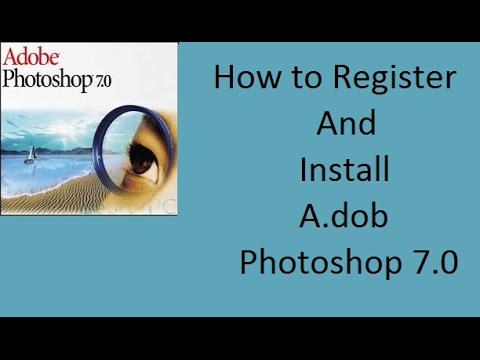 How to register and Install adob photoshop 7 0 for your computer and. your  laptop pc in Urdu Hindi