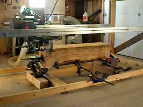 homemade mini sawmill