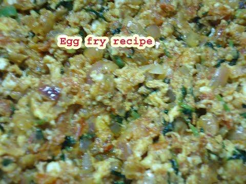 Egg fry recipe in hindi english
