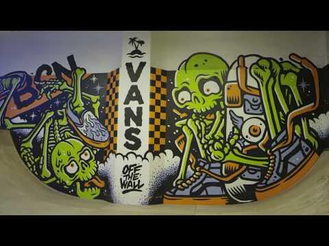 VANS mural @ BCN Surf Shop indoor skatepark