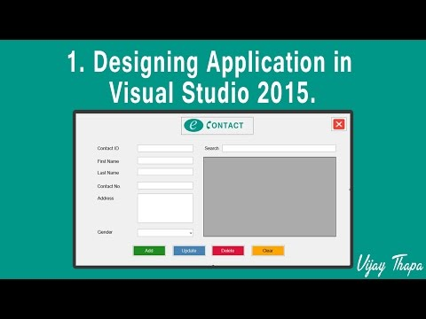 1  How to Create Simple C#  Desktop Application?   (Designing The Application in Visual Studio 2015)