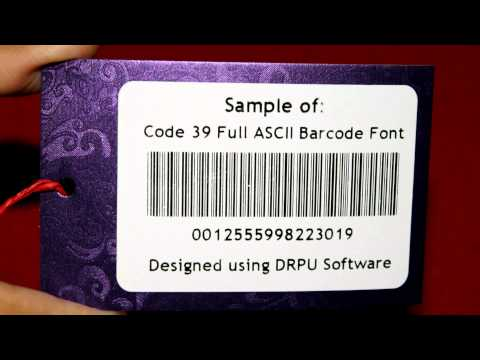 Easy to design barcode labels with Code 39 full ASCII barcode font