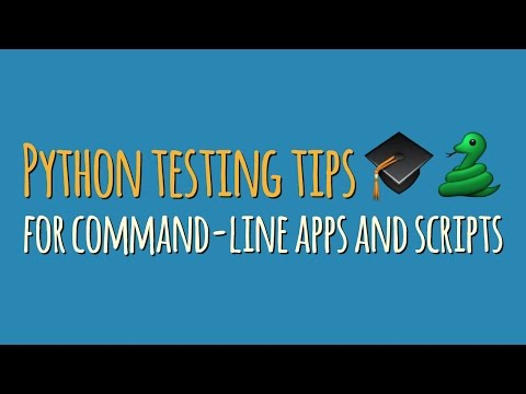 Writing automated tests for Python command-line apps and scripts