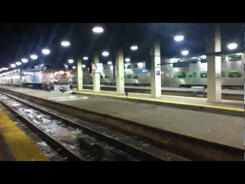Double Decker Amtrak Train taking off from the Chicago Union Station