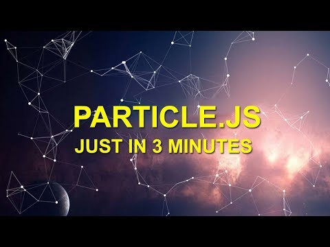 Particle effect on hero image- very easy tutorial