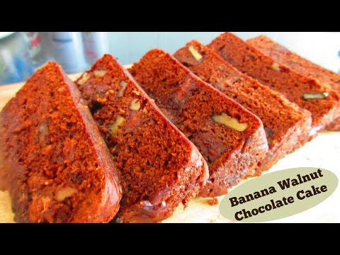 Banana Walnut & Chocolate Cake Without Microwave Oven | Recipe by Ravinder