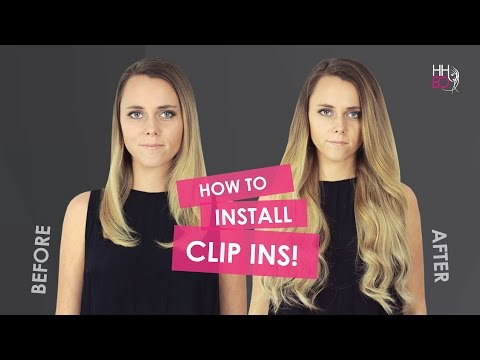 How To Apply Clip In Hair Extensions Video - 10 piece Set HHEO