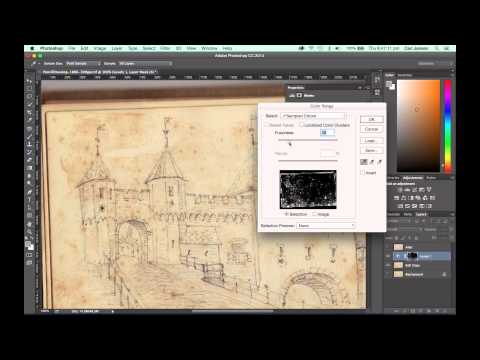 How to remove brown age-spots and paper stains from old documents in Photoshop