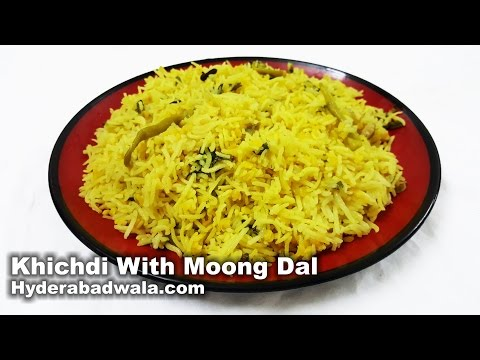 Khichdi With Moong Dal Recipe Video – How to Make Hyderabadi Khichdi with Split Green Gram at Home