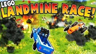 AMAZING LEGO LAND MINE RACE!! - Brick Rigs Gameplay - CRASHING TOY CARS AND LEGOS FOR KIDS!