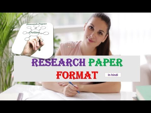 RESEARCH PAPER FORMAT (in Hindi)