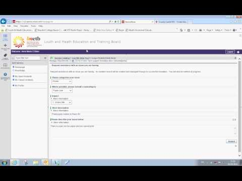 How to log a ticket  for an IT issue using the LMETB Helpdesk Portal