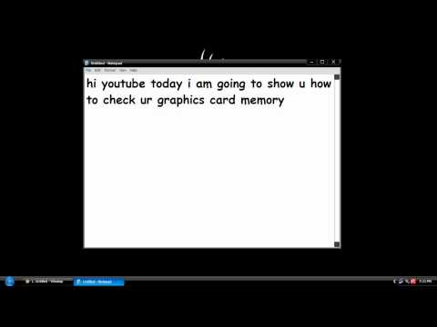 How to check your graphics card memory size on WinXp