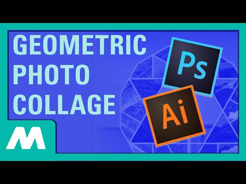 Geometric Photo Collage in Illustrator and Photoshop