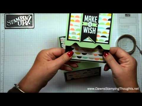 Envelope Punch Board gift card holder with Dawn