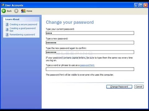 How to change your Windows password in Windows XP