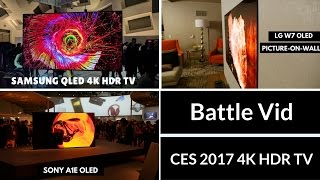 Samsung QLED vs. LG W7 OLED vs. Sony A1E OLED: Which is better?