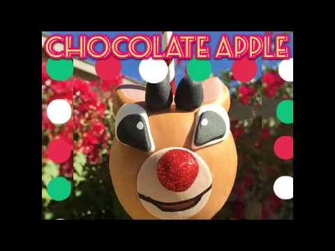 Rudolph The Red Nose Reindeer Chocolate/Caramel Apple!