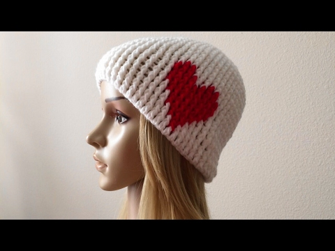 How To Crochet A Valentine's Day Hat, Lilu's Handmade Corner Video # 127