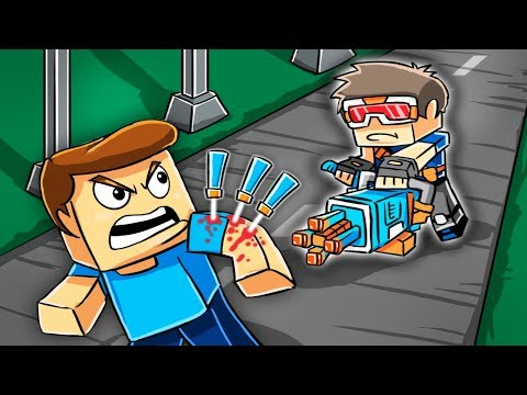 Minecraft - DEADLY NERF CHALLENGE: Hide and Seek! (Nerf Gun Mods)