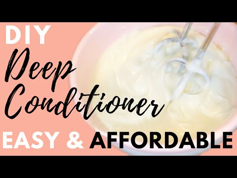 Easy & Affordable DIY Moisturizing Deep Conditioner for Dry Hair