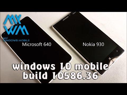 Lumia 640 vs Lumia 930 build 10586.36