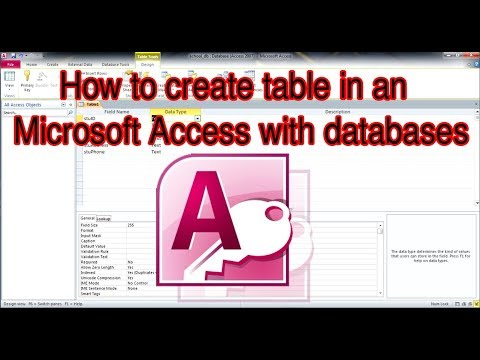 how to create table in Microsoft access 2010 | របៀបបង្កើតតារានៅMicrosoft Access
