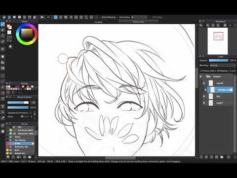 [Medibang Paint Pro desktop version how to] Change color of your line work