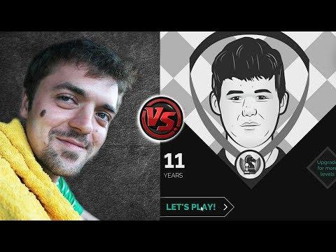 agadmator's Immortal vs Magnus Carlsen (The App) - Age 11