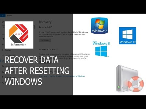 How to Recover Data After Resetting Windows 10, Resetting a Laptop to Factory Settings