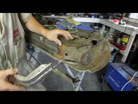 Door frame rust repair