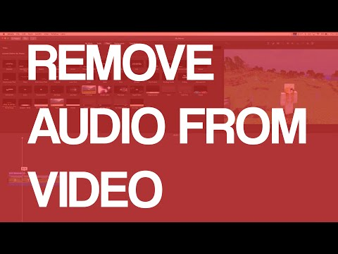 How To Remove Audio From Video In iMovie