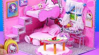 Diy miniature Dollhouse Ideas : ❤️Hello Kitty ❤️ Dream Dollhouse